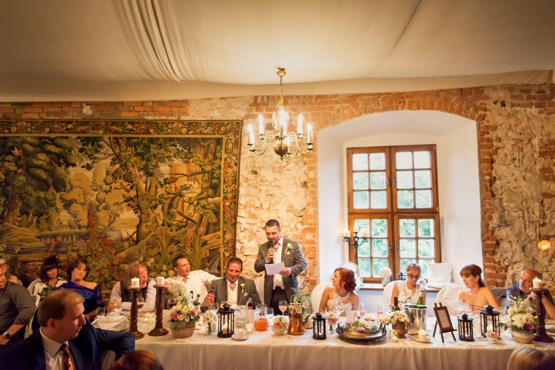 Zamek Korzkiew wesele - ekskluzywne przyjęcie pod Krakowem - przemowy świadków