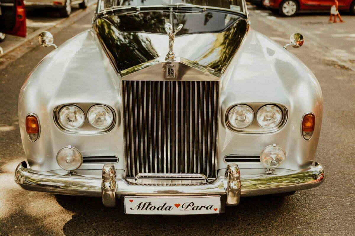 Rolls Roycem do ślubu w Warszawie
