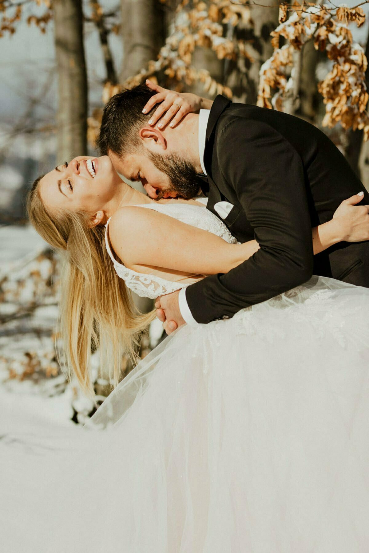 Sesja ślubna w zimie - Fotograf ślubny