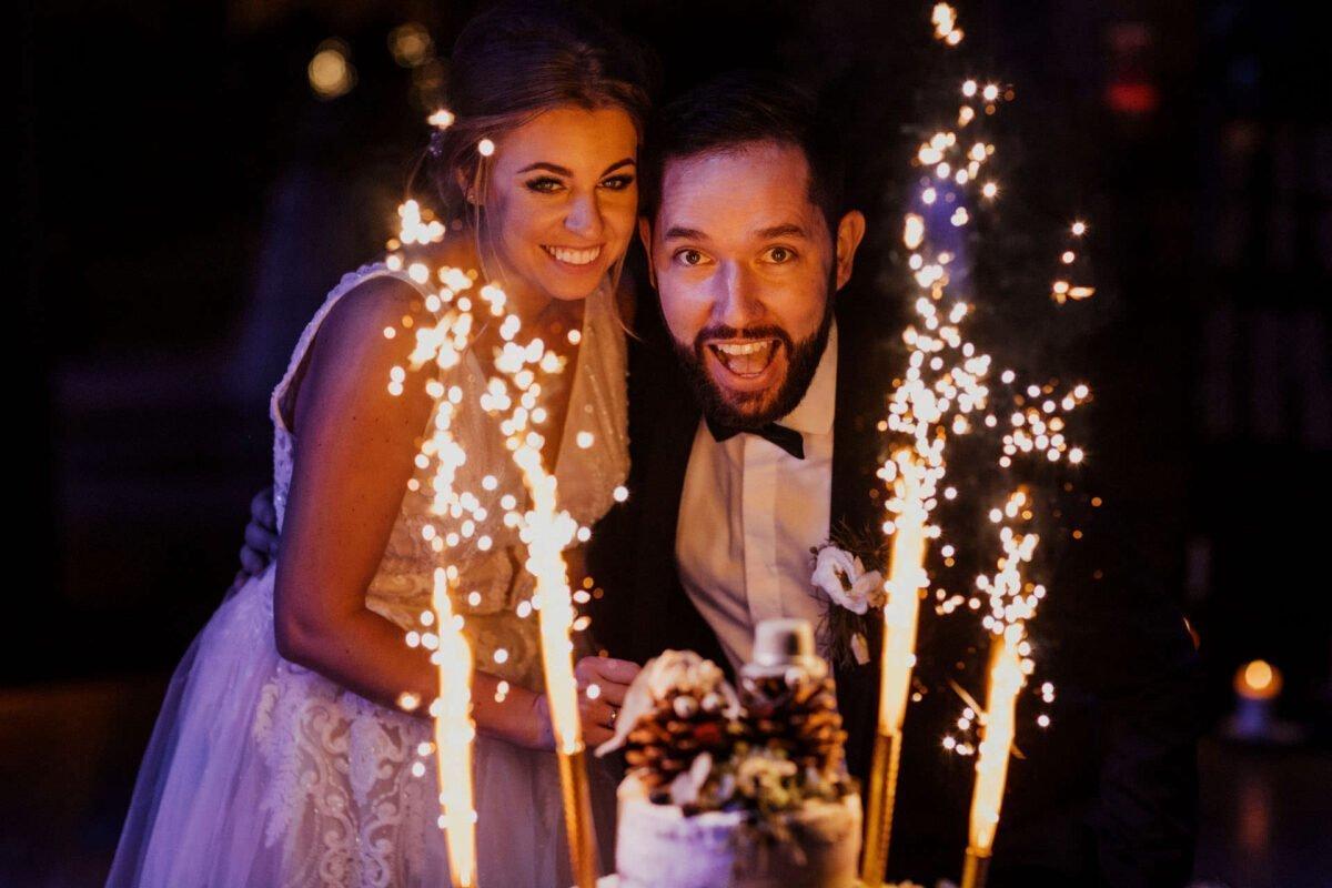 Tort weselny - Małżonkowie - Gościniec za Borem